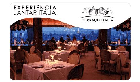 Vale Presente Gift Card Terraço Itália Experiência Jantar Menu Itália